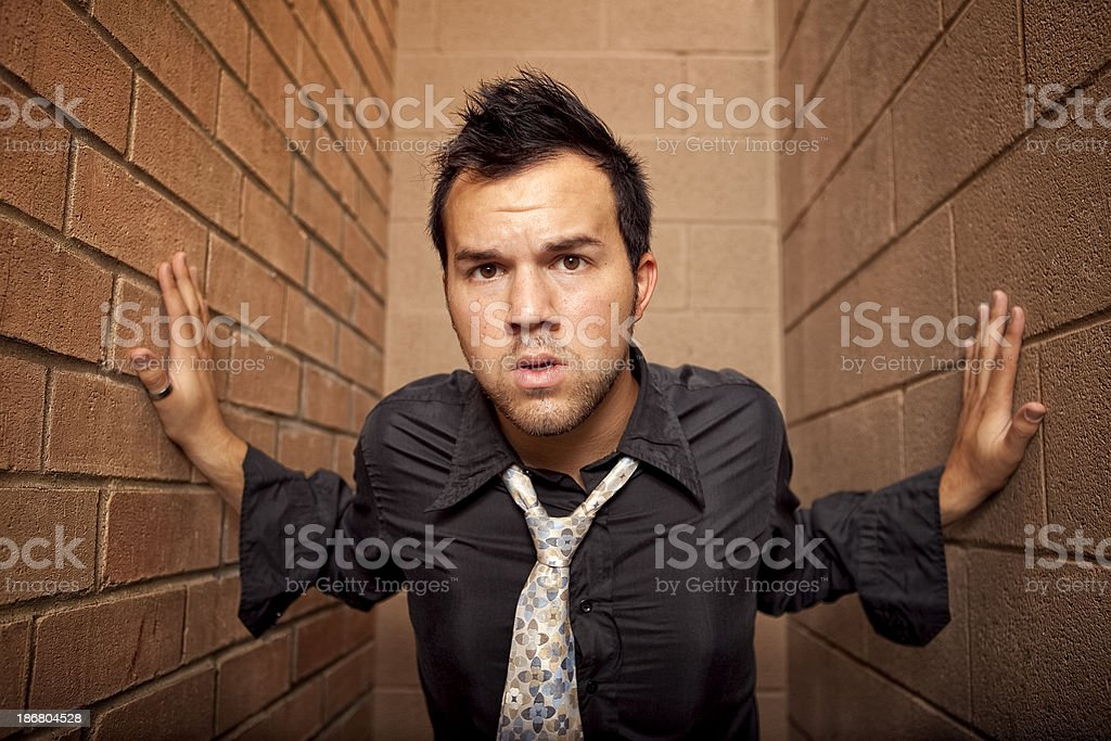 Trapped, Trying To Get Out royalty-free stock photo