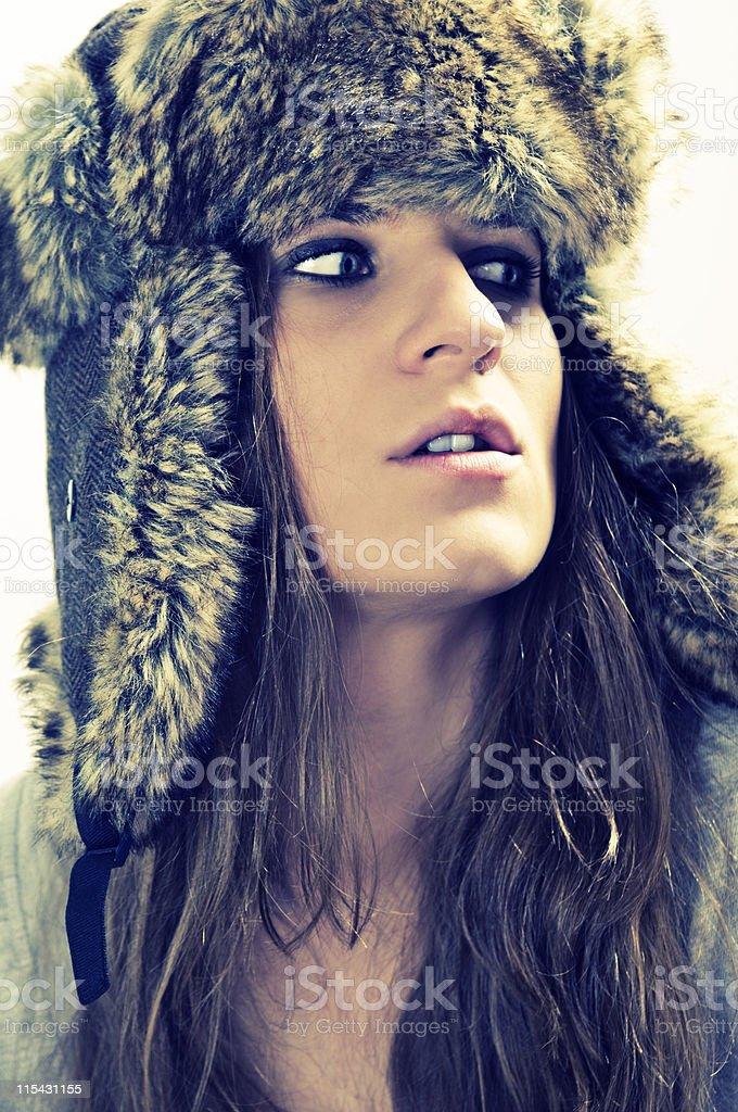 trapper hat stock photo