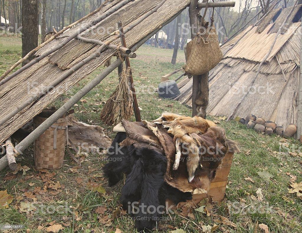 Trapper's Camp stock photo