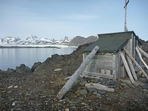 Trapper hut im Hornsund, Islands – Foto