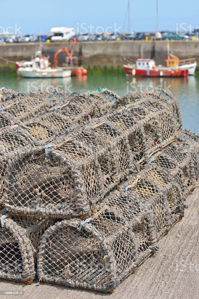 Traps for capture fisheries and seafood royalty-free stock photo