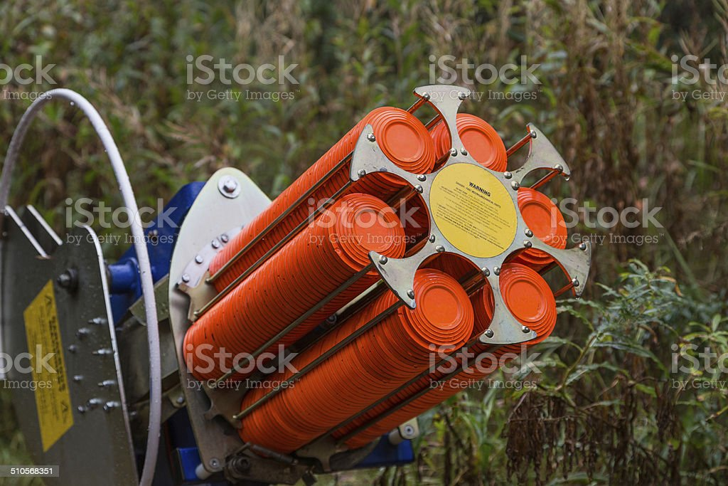 traps machine for shooting-ground training stock photo