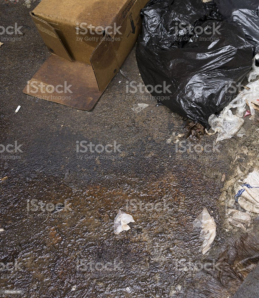 Trash and pollution royalty-free stock photo