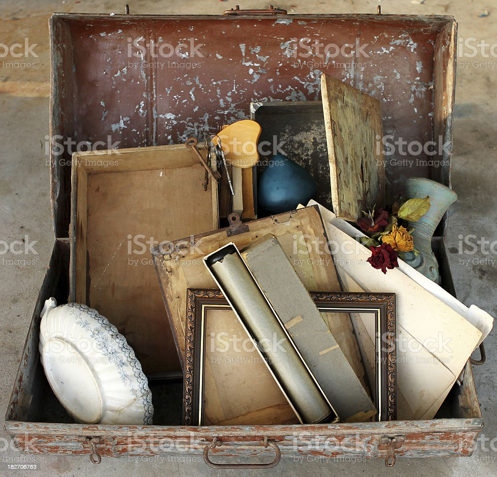 Trash and Treasure Decluttering stock photo