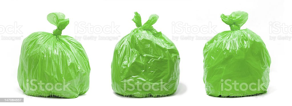 Trash bag stock photo