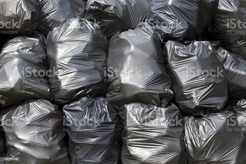 Trash bags stock photo
