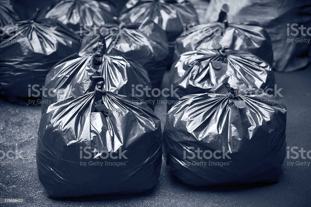 Trash bags royalty-free stock photo