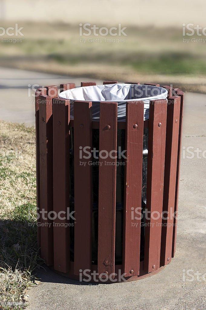 Trash barrel royalty-free stock photo