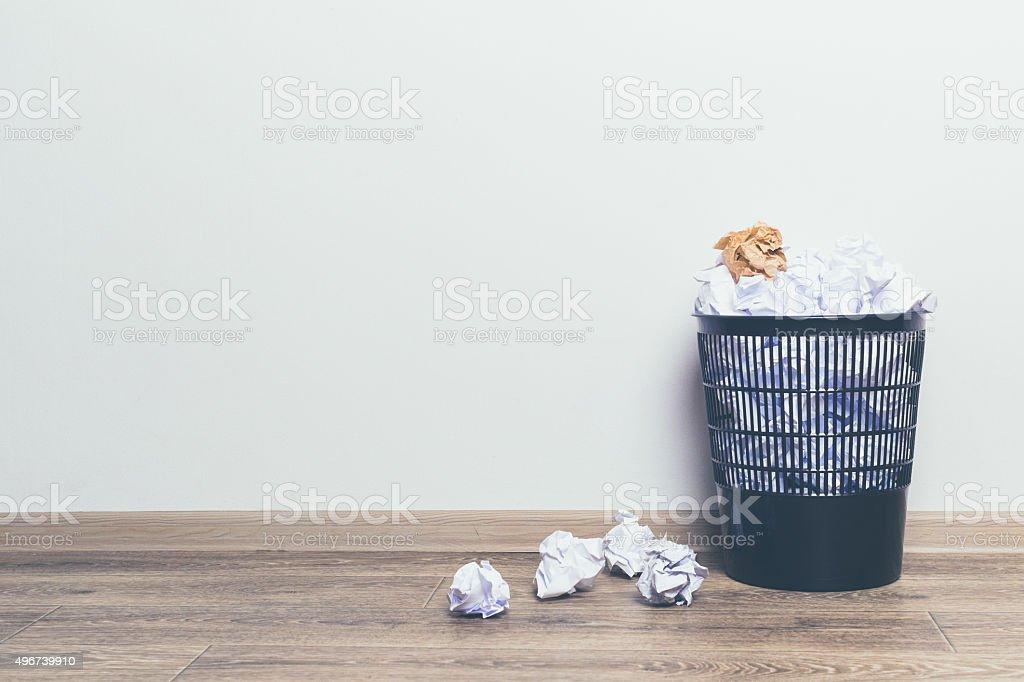 Trash basket stock photo