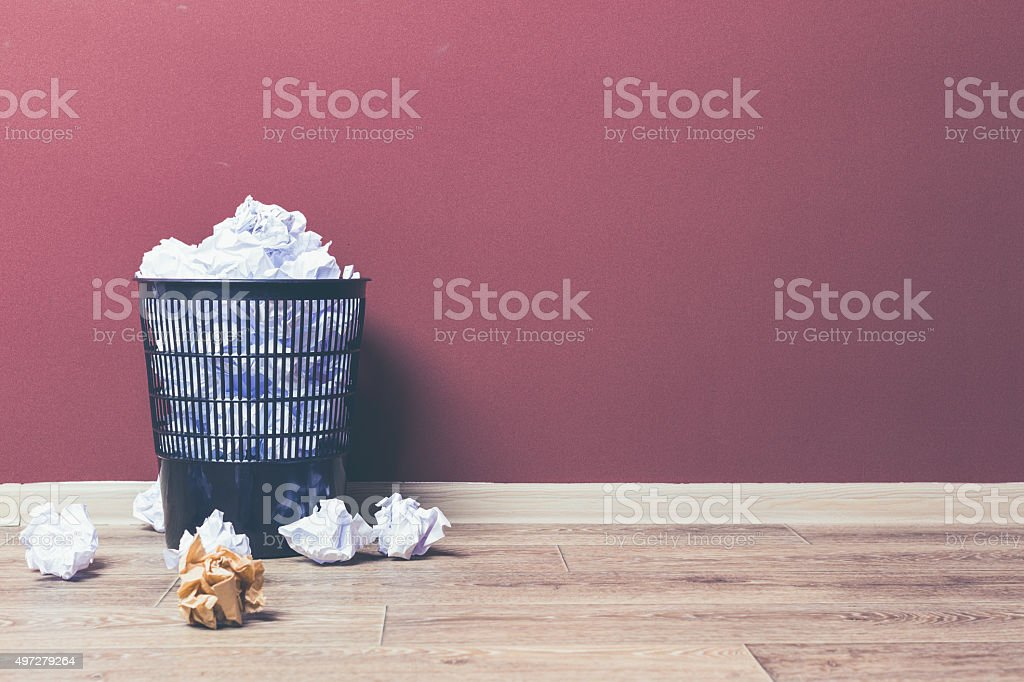 Trash basket stock photo
