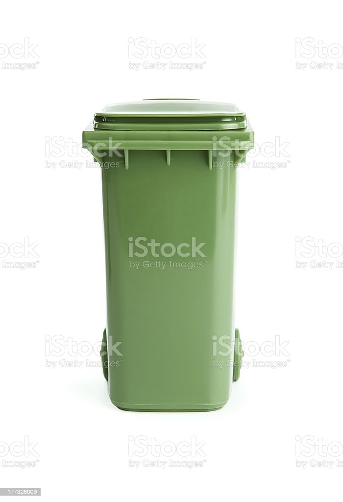 Trash bin stock photo
