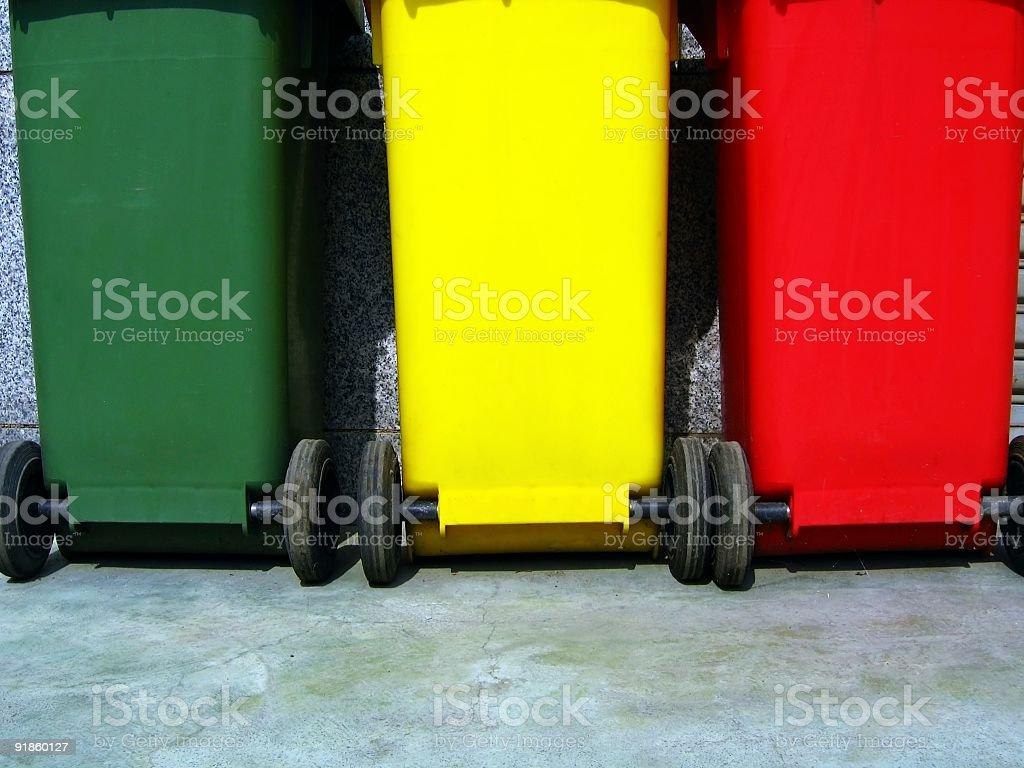 Trash Bins for Garbage Separation royalty-free stock photo