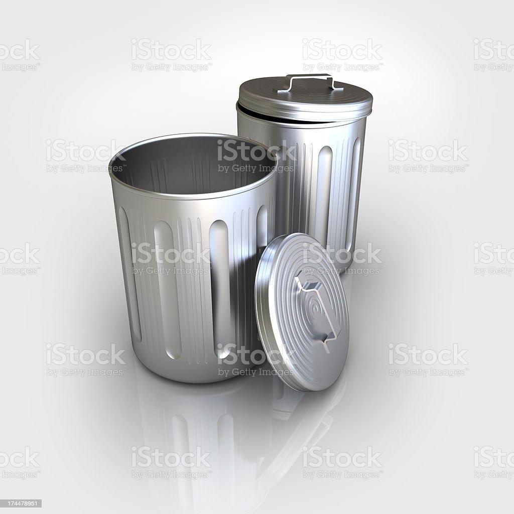 trash bins stock photo