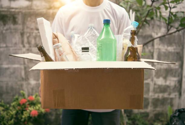 Müll-Box für Recycling und Ökologie Umwelt verringern. Konzept der Erde zu retten. – Foto