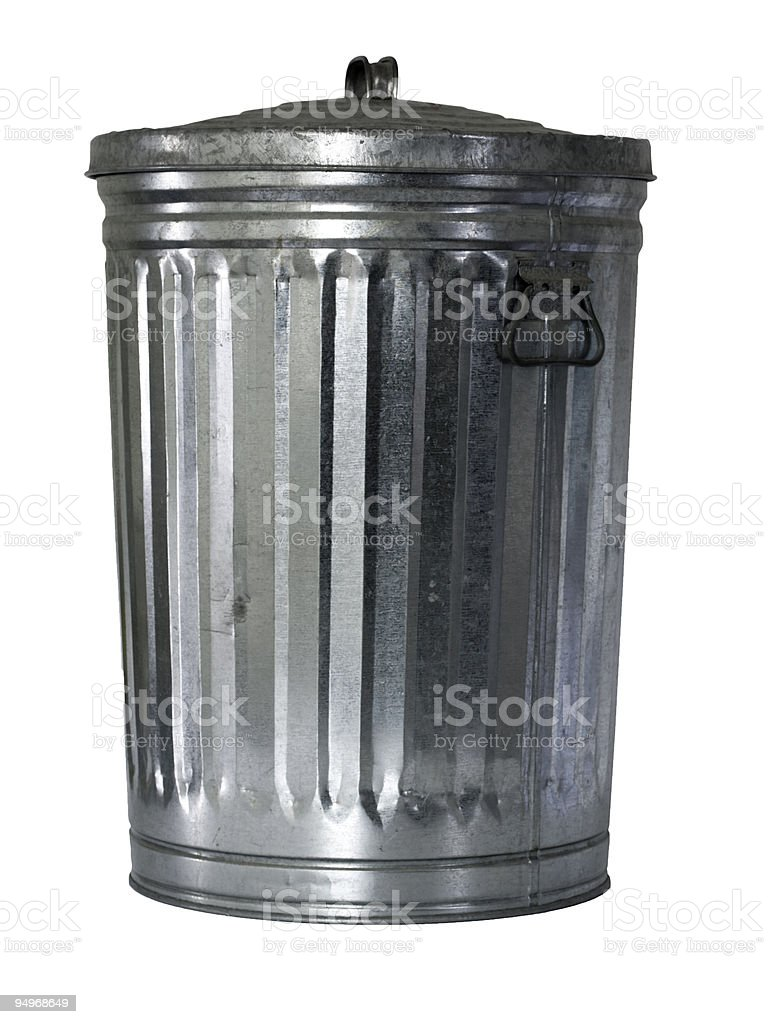 trash can, close, isolated royalty-free stock photo