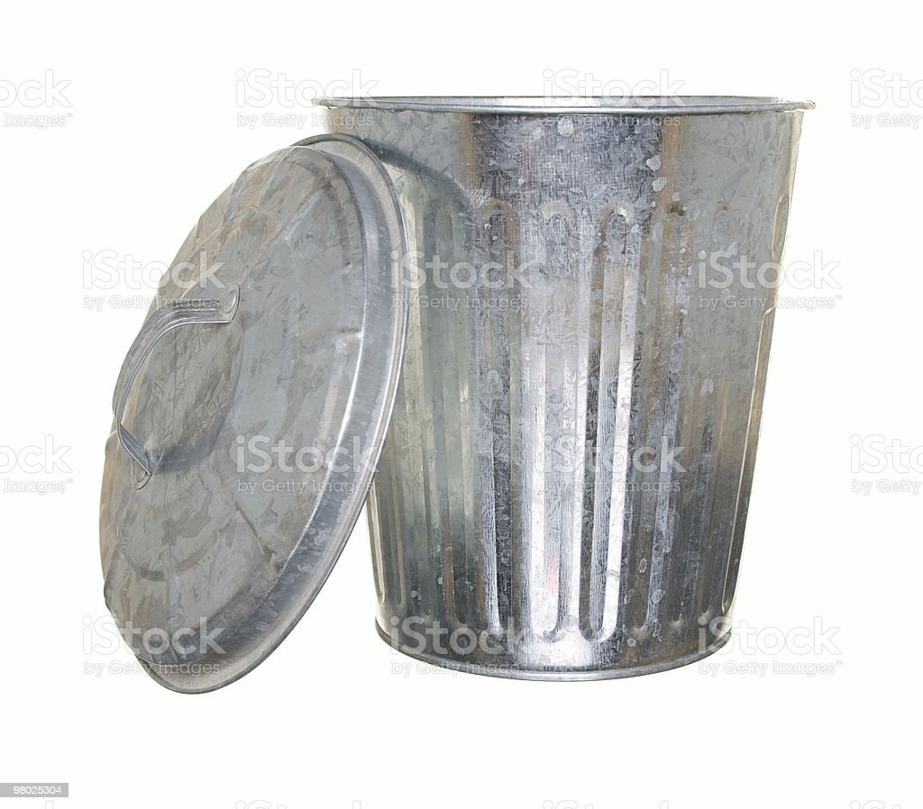 trash can, lid off royalty-free stock photo