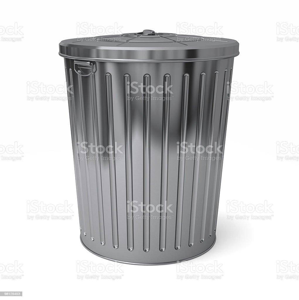 Trash can lid on royalty-free stock photo