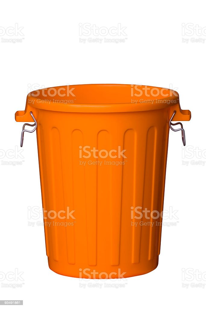 Trash Can - Open stock photo