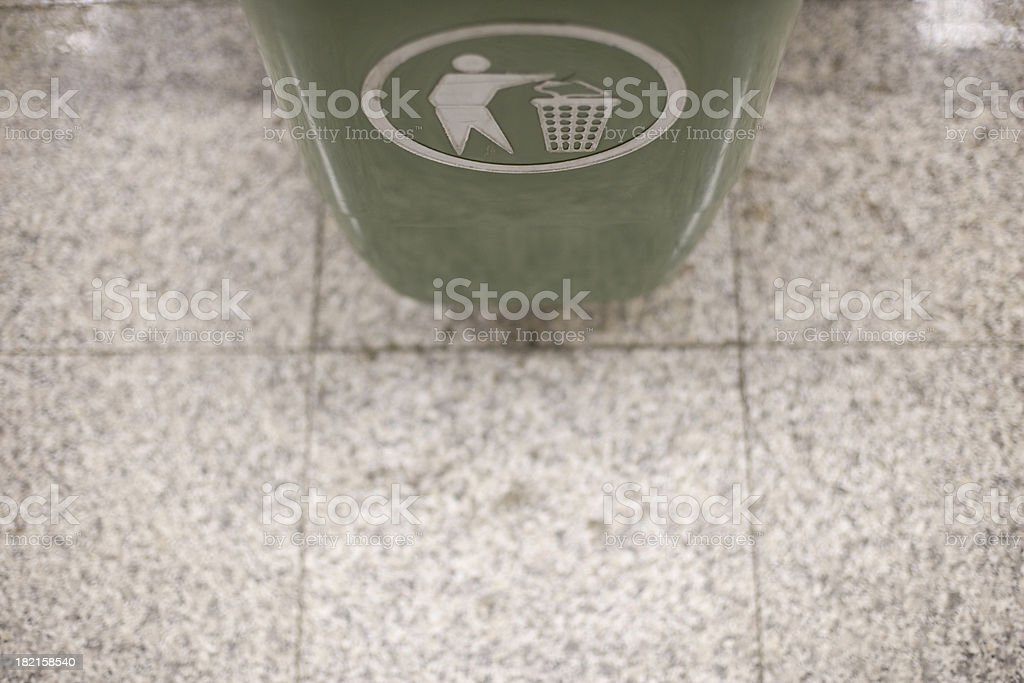 trash can royalty-free stock photo