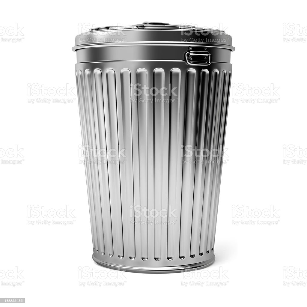 Trash Can stock photo