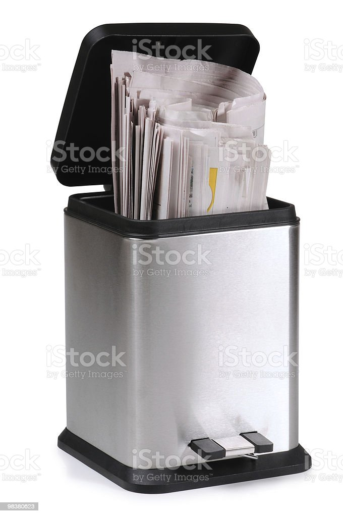 Trash can. royalty-free stock photo