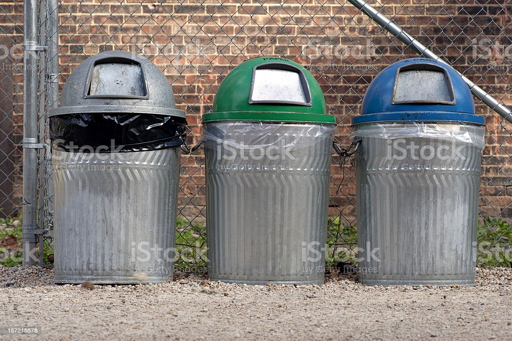 trash cans royalty-free stock photo