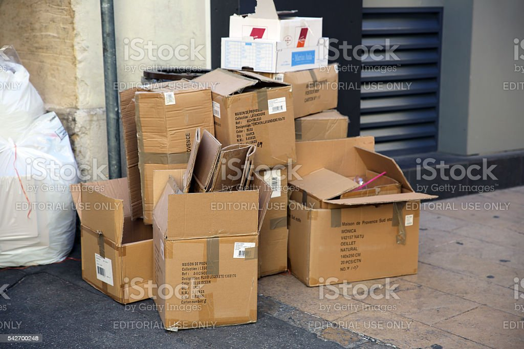 Trash Cardboard Boxes stock photo