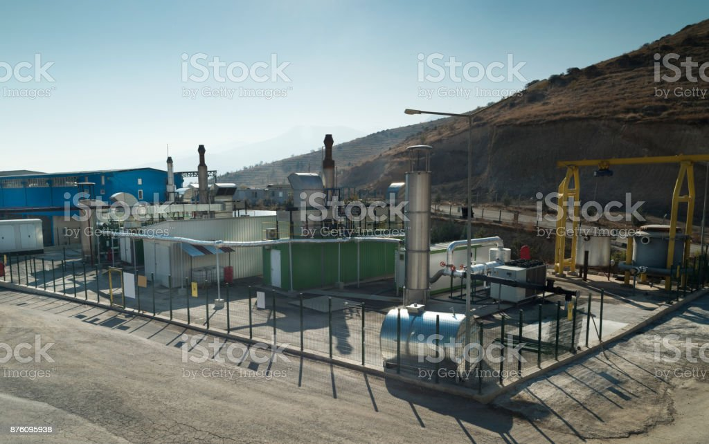 trash conversion plant stock photo