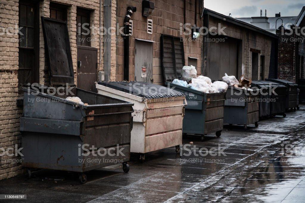 Trash Dumpsters - fotografia de stock