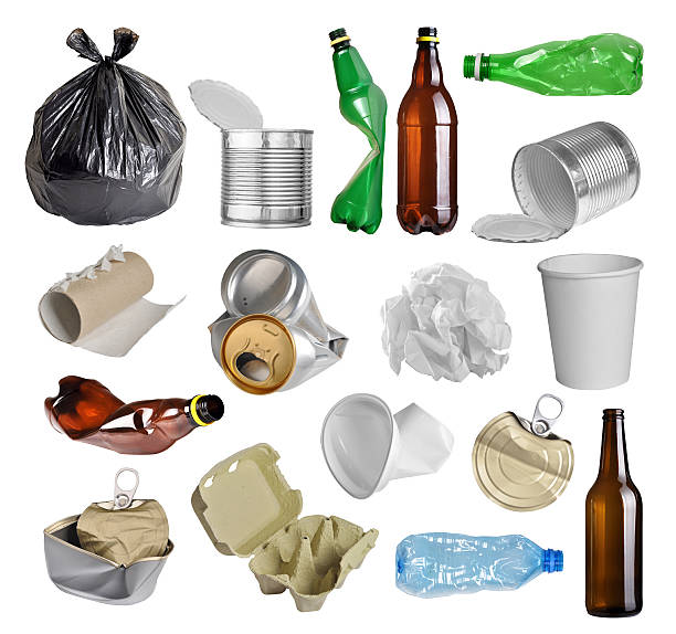 trash for recycling stock photo