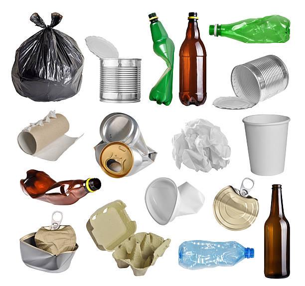 Poner verde para reciclaje - foto de stock