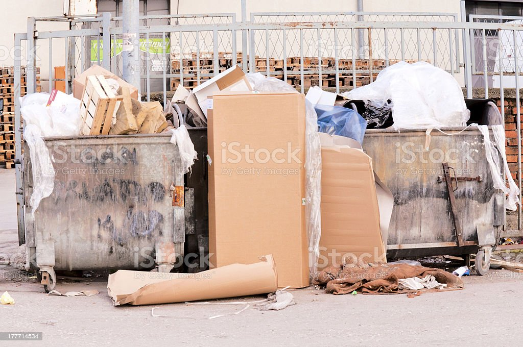 Trash stock photo