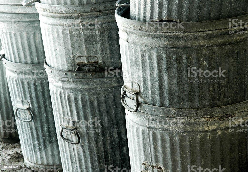 Trashcans royalty-free stock photo