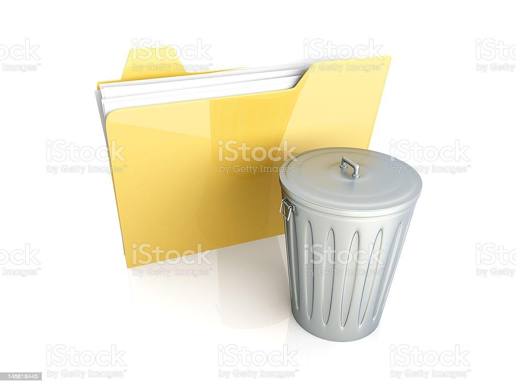 Trashed document royalty-free stock photo