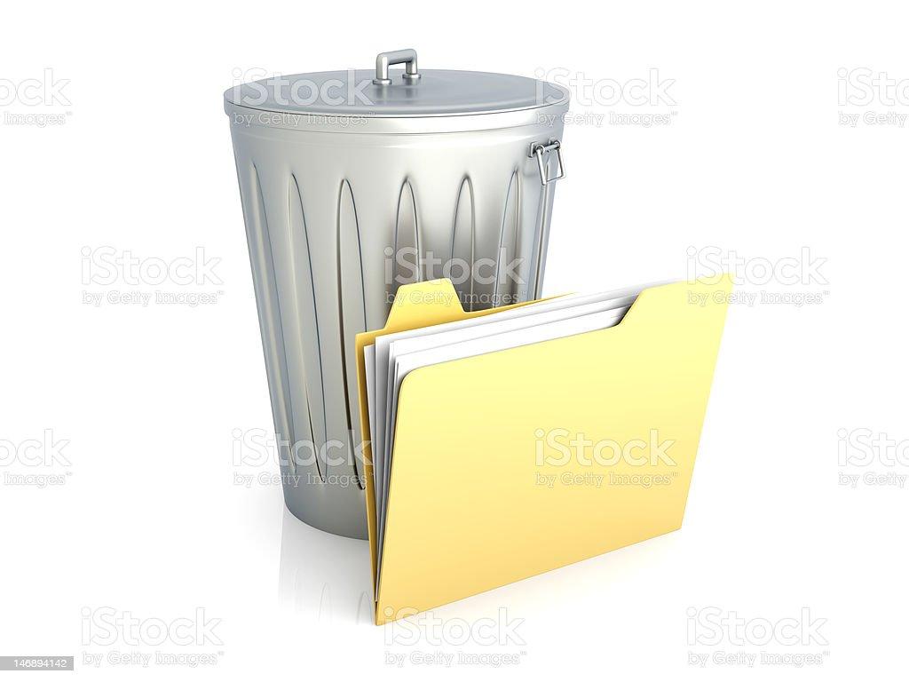 Trashed document stock photo