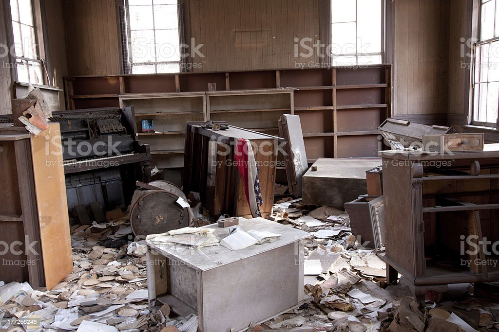 Trashed Room royalty-free stock photo