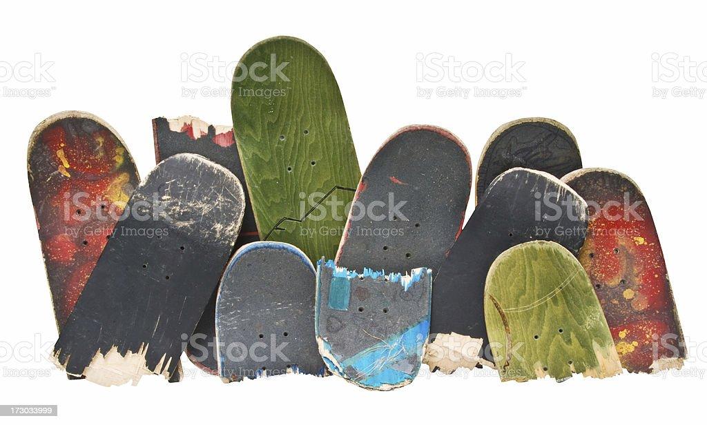 Trashed Skateboards stock photo
