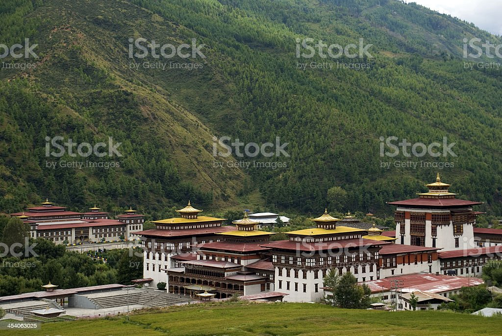 Trashi Chhoe Dzong, Thimphu, Bhutan stock photo
