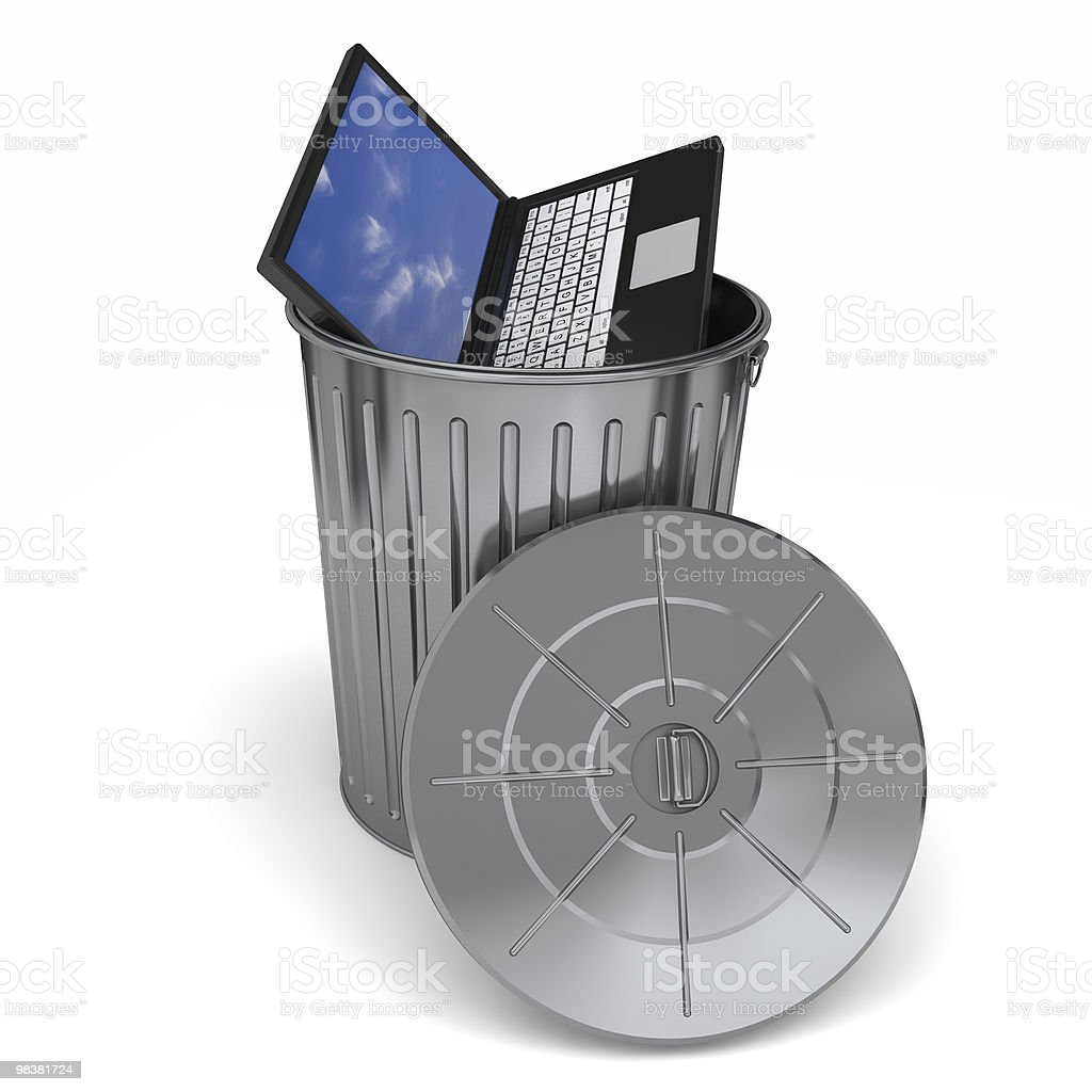 Trashing Computer royalty-free stock photo