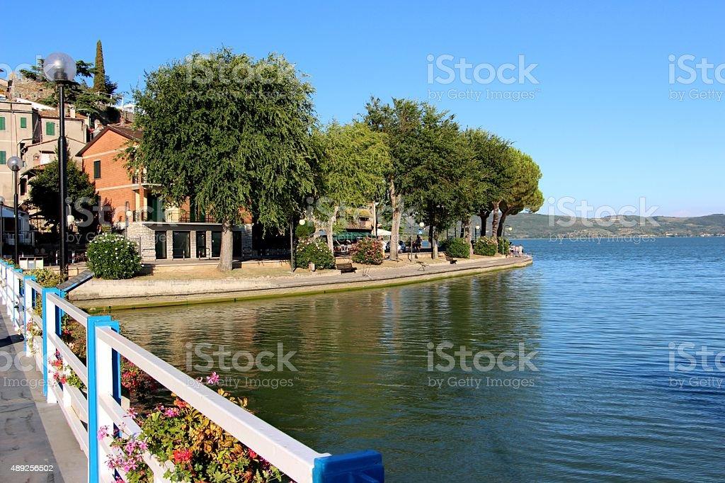 trasimeno lake - passignano sul trasimeno stock photo