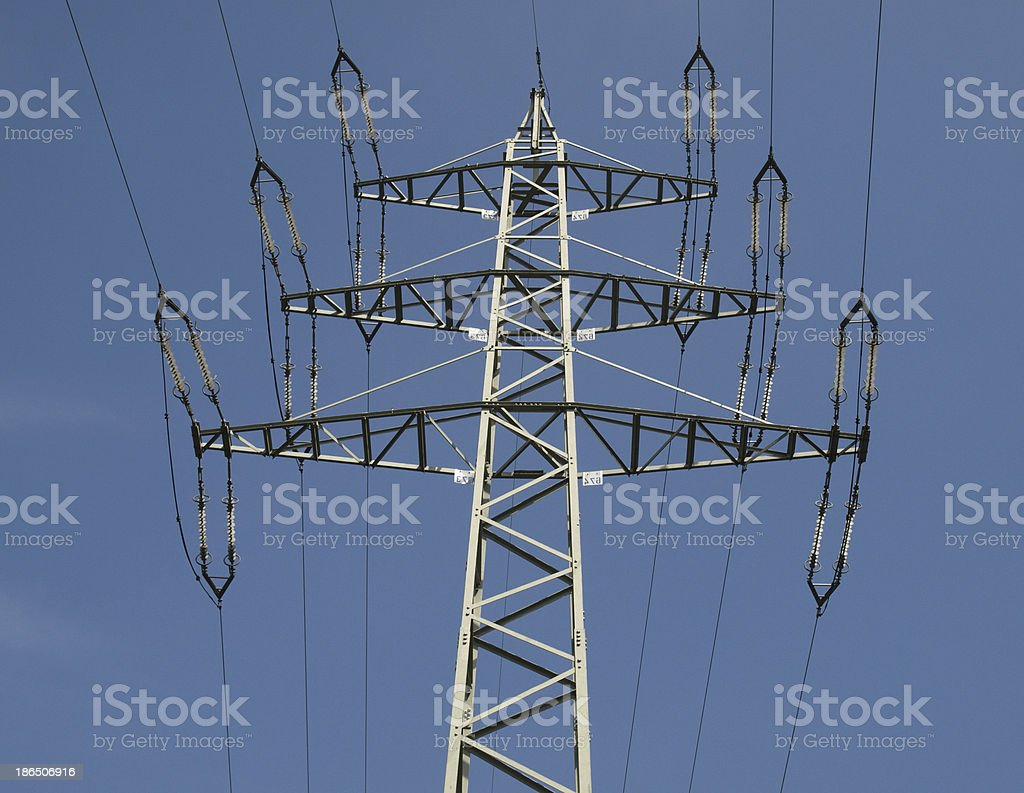 Trasmission line tower royalty-free stock photo
