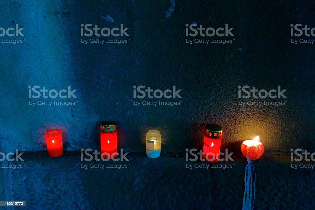 Trauerlichter stock photo