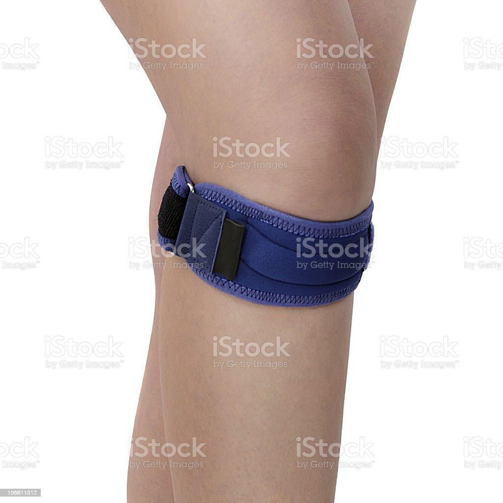 Trauma of knee in brace. royalty-free stock photo