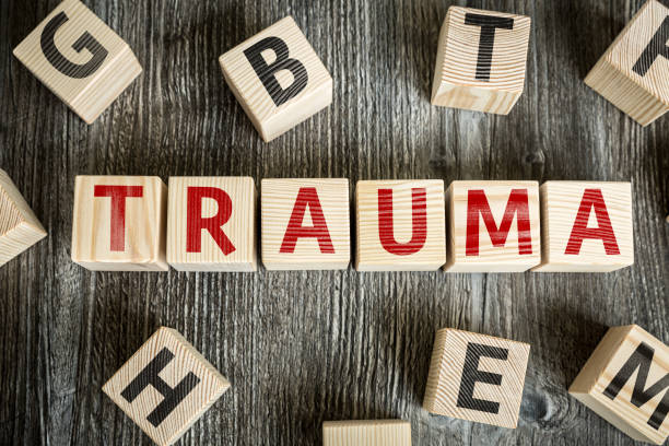 Trauma Wooden Blocks with the text: Trauma bad news stock pictures, royalty-free photos & images
