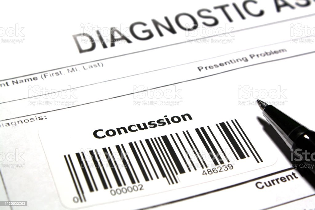 Trauma to the brain Diagnostic assessment abstract - Concussion Abstract Stock Photo