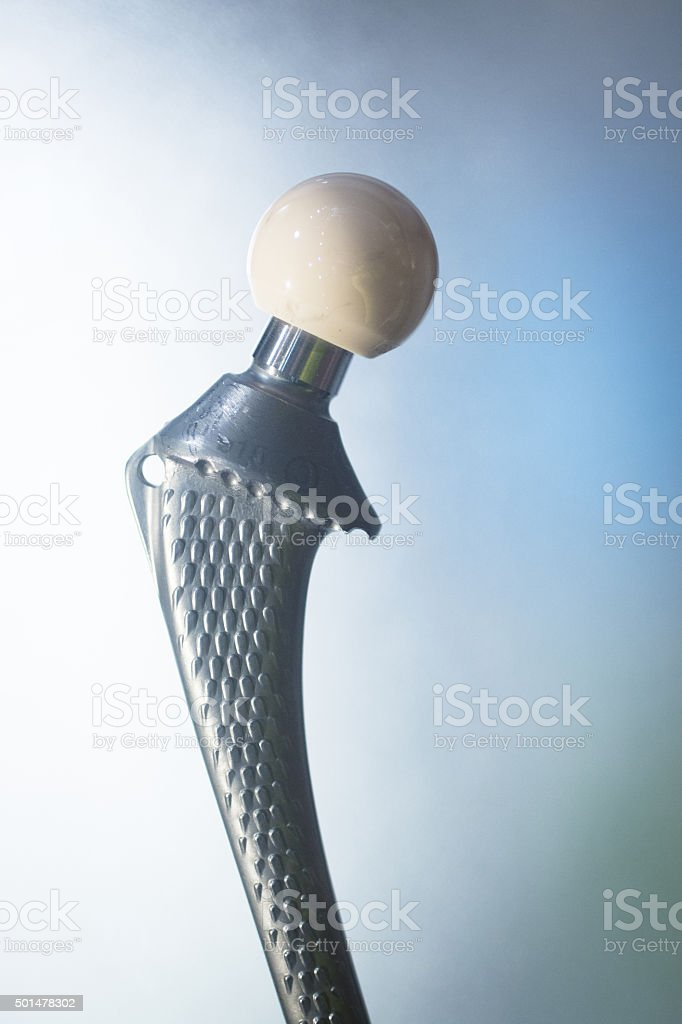 Traumatology orthopedic surgery hip implant stock photo