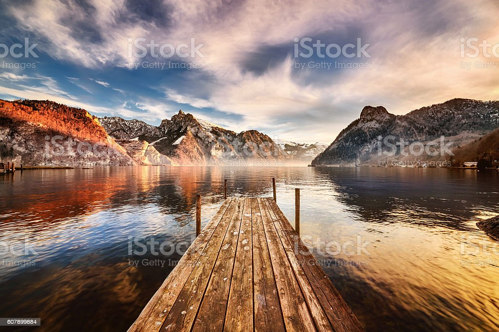 Traunkirchen am Traunsee stock photo
