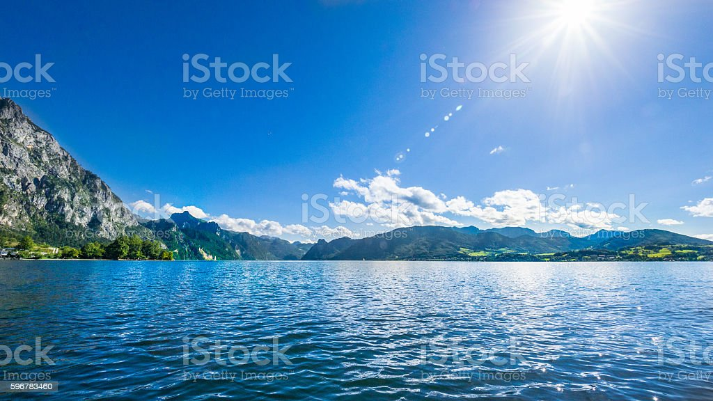 Traunsee, Salzkammergut, Austria stock photo