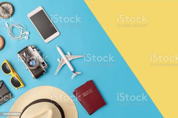 Travel accessories flat lay with copy space picture id1045469854?b=1&k=6&m=1045469854&s=612x612&h=drv0saebv0g kze3rwsanj3rsmqvbpnbcsifdzvg6ag=