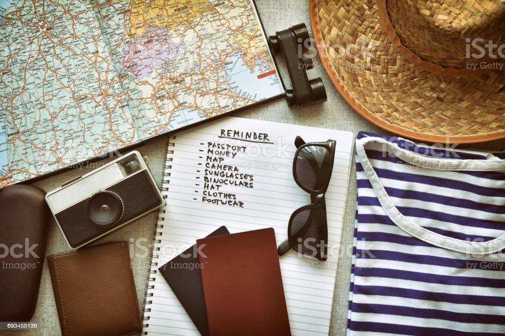 Accesorios de viajes foto de stock libre de derechos